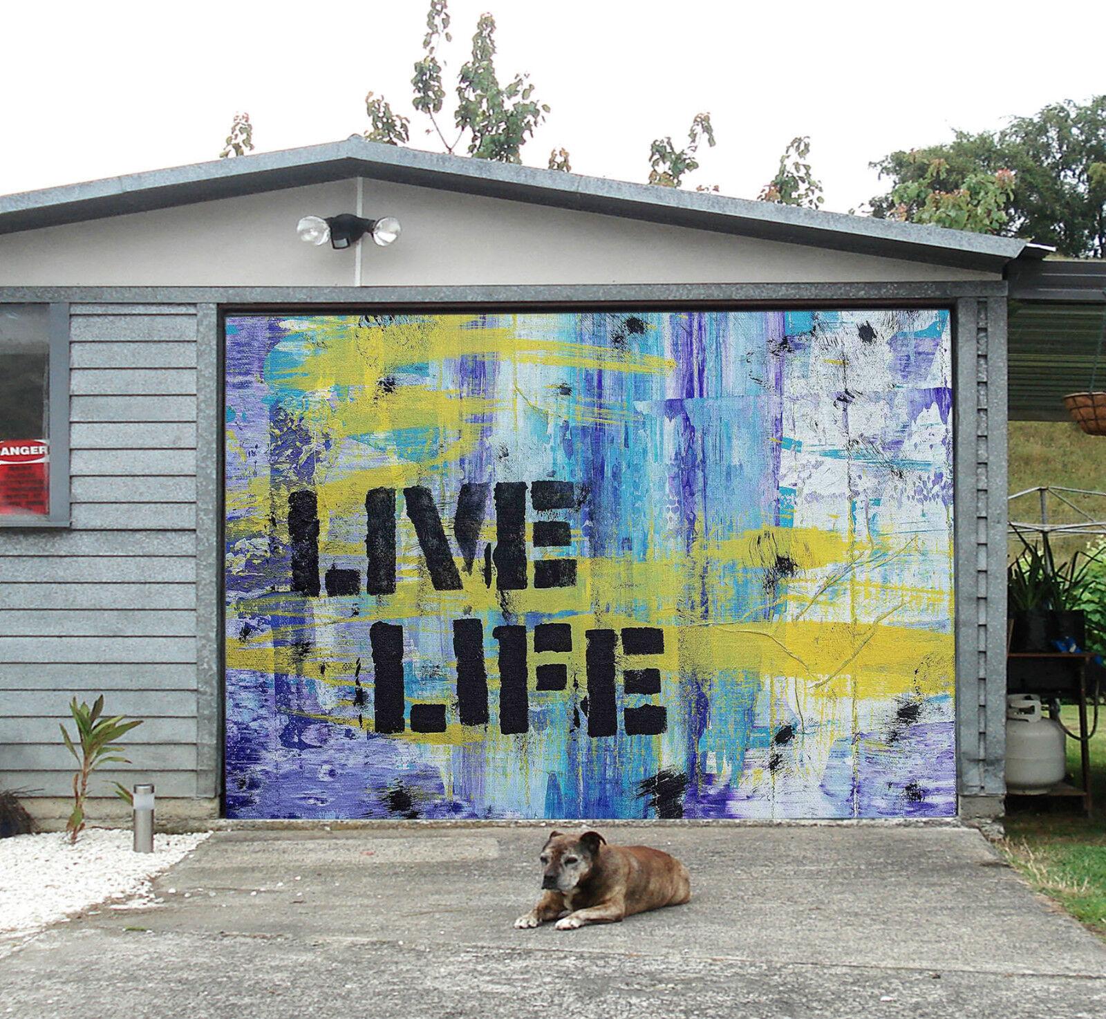 3D Graffiti Slogan Garage Door Murals Wall Print Decal Wall Deco AJ WALLPAPER IE