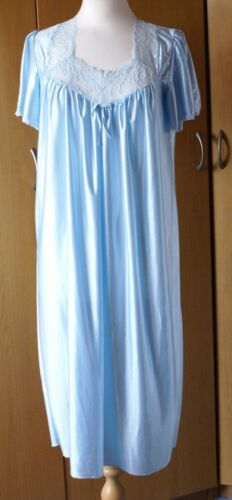 "Ladies Soft /& Silky Aqua Nightdress 44/""Length Size 10-22"