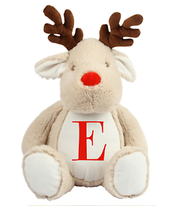 Personalised Rudolph Bear Personalised Initial Childrens Gifts Christmas Teddy