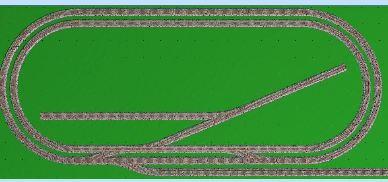 Pista ferroviaria plástico HO Lima BINARIO set con el tren