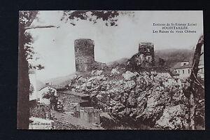 Tarjeta-Postal-Antigua-CPA-Rochetaillee-Los-Ruinas-Del-Antiguo-Castillo
