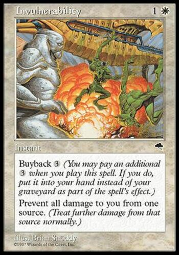 Invulnerability  EX PLAYED  Tempest MTG Magic Cards White