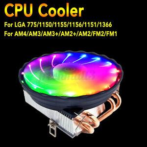 RGB-LED-CPU-Cooler-Fan-3Pin-4-Heatpipe-For-Intel-LGA-1155-1151-1150-1366-775
