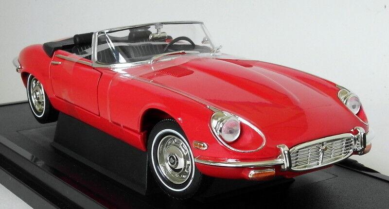 Road Signature 1 18 Scale 1971 Jaguar E-Type Roadster V12 Red Diecast Model Car