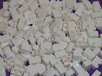 Lego 1x2 White Bricks Bulk Lot Of 100 Pieces 3004