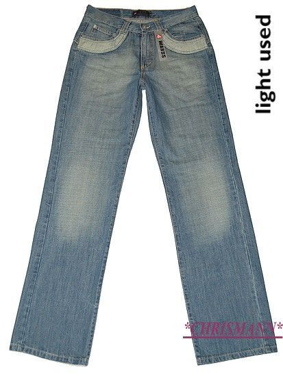 4wards Jeans Nuovo L-GR.90, 94,98 Uomo Pantaloni in in in Denim Luminoso Blu Usato L34 93ada2