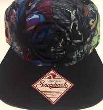 5c88c17df88e2 DC Comics Justice League All Over Print and Logo Snapback Hat Adjustable Cap