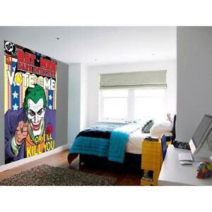 NUEVO-1-Pared-Facil-De-Colgar-Papel-Pintado-Mural-Joker-batman-comic-DC-Cubierta