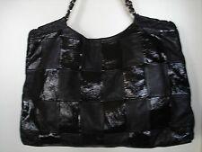CHANEL JUMBO HANDBAG  BLACK PATCHED TOTE  OVERSIZED BAG 100% AUTHENTIC