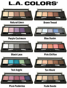 L.A. COLORS 5 Color Matte Eyeshadow Palette NEW **You Choose Shade ...