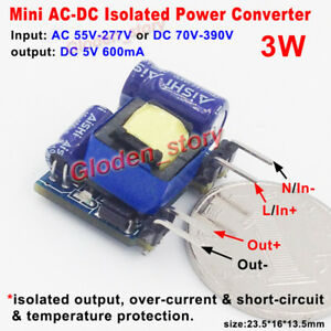 Details about Mini AC-DC Converter AC110V 220V 230V to 5V Isolated Power  Switching Transformer