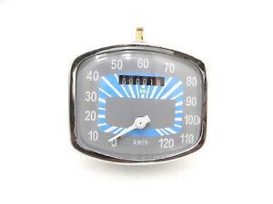 Brand New 0-120 KM/HR Speedometer Grey-BlueFor Vintage Vespa GS 150 Models #VS18