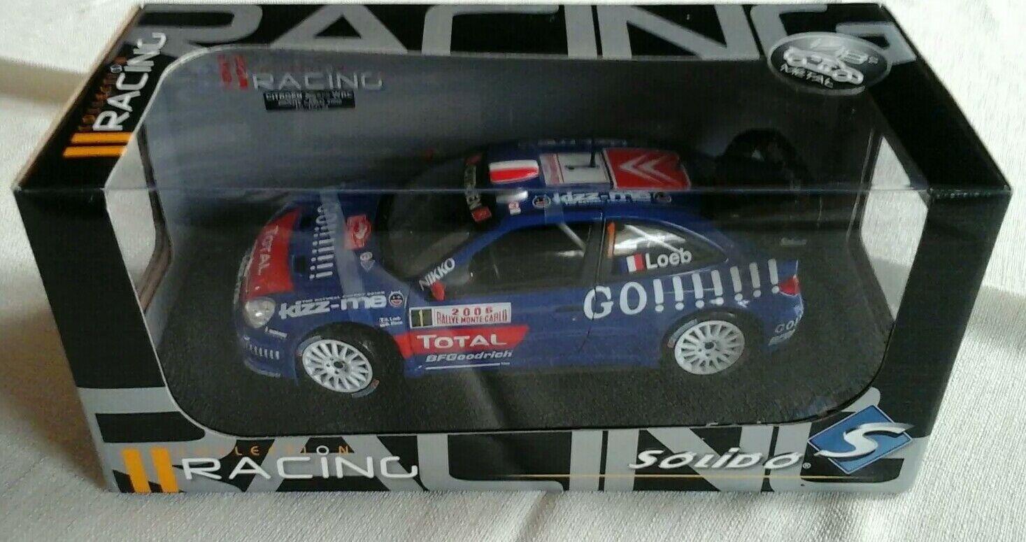 Citroen Xsara WRC Monte 2006 Loeb  1 GO      Total  Solido 1 18, Neu, OVP