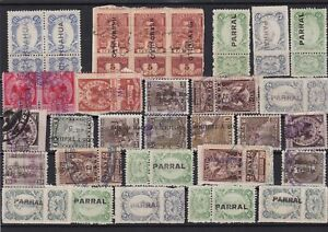 Mexico mixed early revenue Stamps Ref 15926
