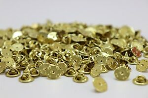 Brass Clutch Back Pin Back Pinback Clasps for Pins and Military