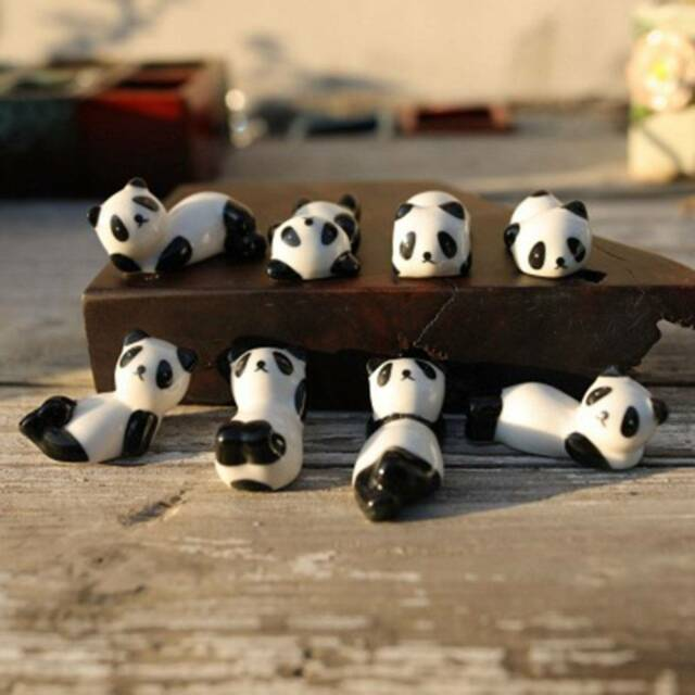 1pc Cute Lovely Ceramic Panda Chopsticks Stand Rest Rack Porcelain Spoon sale