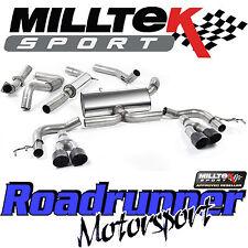 "Milltek SSXHO213 Honda Civic Type R FK2 Exhaust System 3"" Cat Back Black Tips EC"