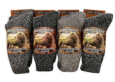 Mens Thick Heavy Duty Wool Blend Work Hiking Boot Socks Winter Warm Thermal 6-11