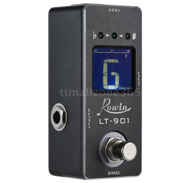 Black Chromatic Guitar Tuner Pedal Effect True Bypass LCD Display T4E1