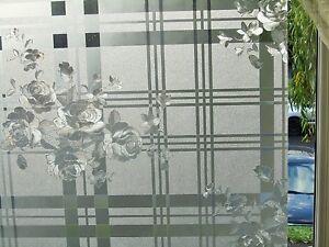 Ventana De Vidrio Esmerilado Con Textura Grabado Vidrio estática película de privacidad de vinilo decorativo