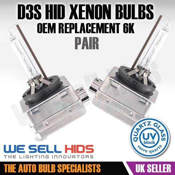D3S Xenon HID Gas Discharge Headlight Bulbs Pair Lig Fits Ford Focus MK3 11-On