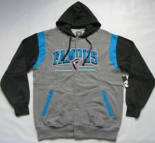 FAMOUS STARS AND STRAPS REIGN SNAP HOODED LETTERMAN JACKET SNOWBOARD HOODIE L