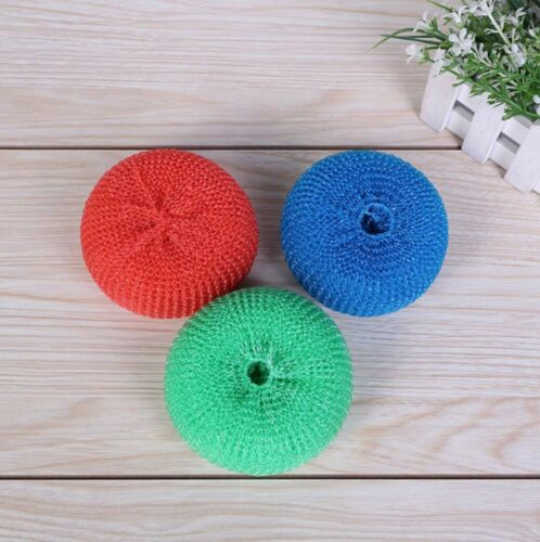 5X Kitchen Dish Pot Pan Washing Spiral Mesh Household Cleaning Scrubber Sponge
