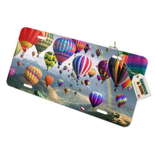 Hot Air Balloons Sky Roads Novelty Metal Vanity Tag License Plate
