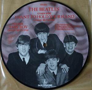 Beatles-Picture-Disc-7-034-Vinyl-I-Want-To-Hold-Your-Hand-The-20th-Anniversary