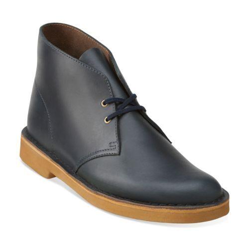 Clarks Originals Desert Men/'s Midnight Blue Leather Chukka Boots 26109445