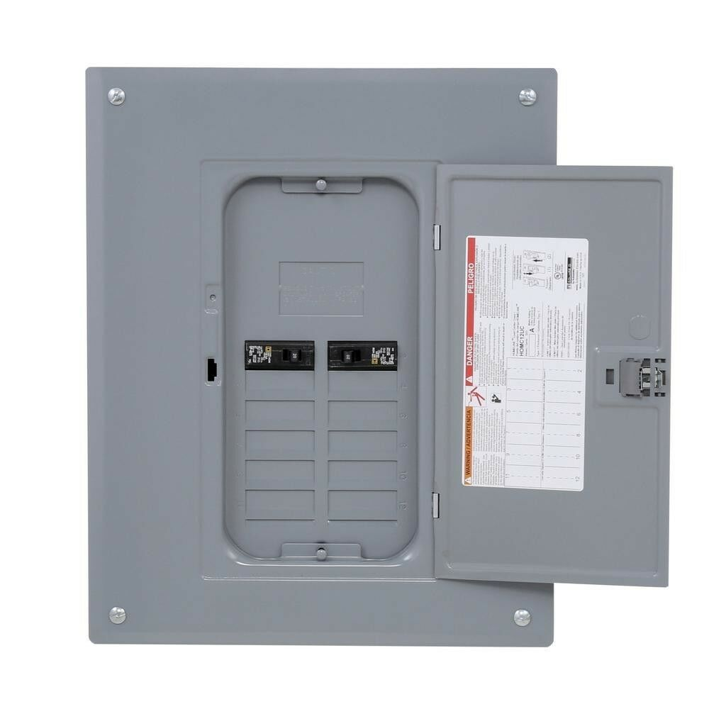 Indoor Main Lug Load Center 125 Amp QO w// Cover Ground Bar 12-Space 24-Circuit
