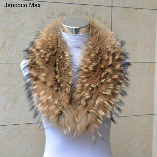 Echt Waschbären Pelz Kragen Jacke Schals Winter Mode Warm 99038