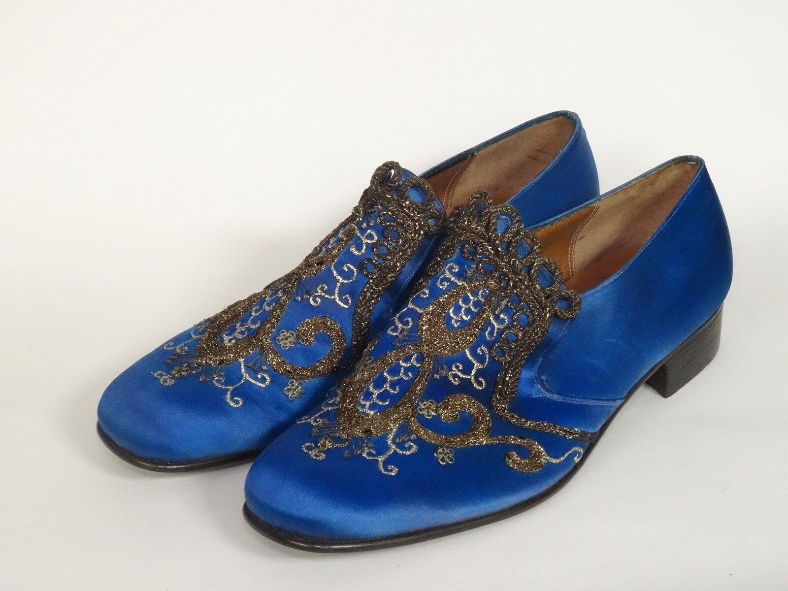 promozioni eccitanti GORGEOUS GORGEOUS GORGEOUS D. SEVASTAKIS Uomo EMBROIDERED scarpe  sz 8 D  sconto online di vendita