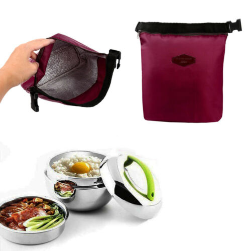 Waterproof Thermal Cooler Insulated Lunch Box Portable Tote Storage Picnic Bag B