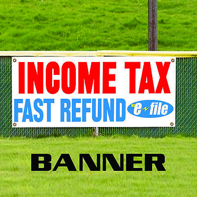 Many Sizes Available Flag, Advertising Store Rapid Tax Refunds Efile in 24 Hours Customizable 13 oz Heavy Duty Vinyl Banner Sign with Metal Grommets New
