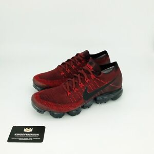 sports shoes 5ef74 29fb2 Details about NIKE AIR VAPORMAX FLYKNIT UK 12 EUR 47.5 US 13 TEAM RED BLACK  NEW 849558 601