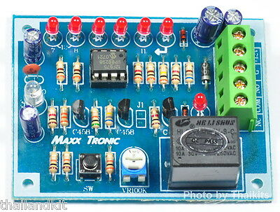 NIGHT SWITCH PLUS TIMER OFF 1 to 12 Hour Relay 10A Max Photo Transistor [MXA061]