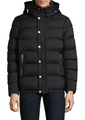 Burberry Black Hartley Down Puffer Jacket Small