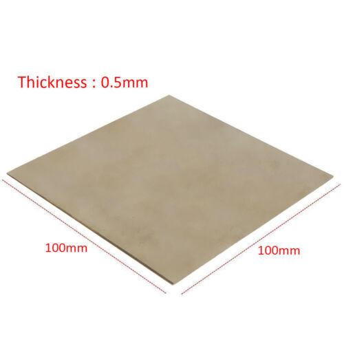 Silver Titanium Metal Plate Titan Sheet Grade 2 Ti 0.5mm x 100mm x 100 mm