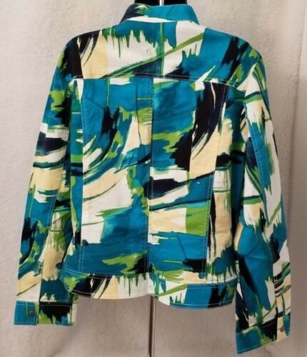 Color By Top Additions L Jean Lightweight Størrelse Chicos Dame 2 Jacket Multi BTAUxA