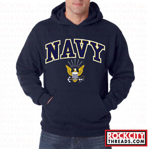 Us Navy Logo Hoodie United States Crest Military Hooded