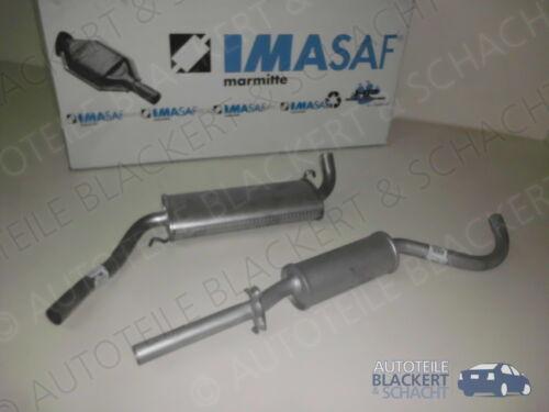 1975-1978 IMASAF auspuffset fondos olla 80,81b1 silenciador audi 80 1.6