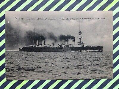 """Preciso Cpa Marine Bateau De Guerre Warship Croiseur De 1ere Classe """" Dupetit-thouars """""""
