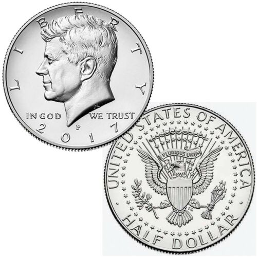2017 P/&D President Kennedy Half Dollar Fifty Cent Coins Money Coin Collectibles