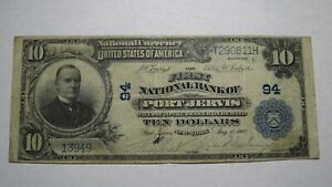 10-1902-Port-Jervis-New-York-NY-National-Currency-Bank-Note-Bill-Ch-94-VF
