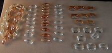 LARGE LOT OF LARGE CRYSTAL BEADS FOR JEWELRY MAKING