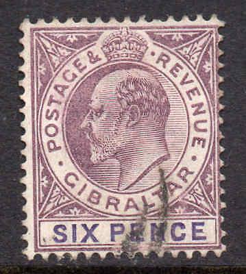 Willensstark Gibraltar 1903 Edvii 6d Wmk Krone Ca Sg 50 Gebraucht Gibraltar