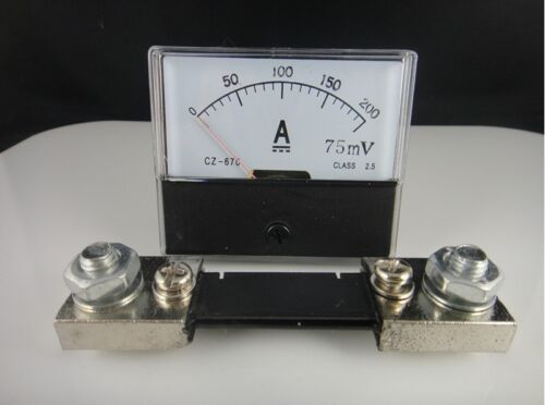 Luntus 100A Analog Panel Ampere Current Counter Ammeter Meter DH-670