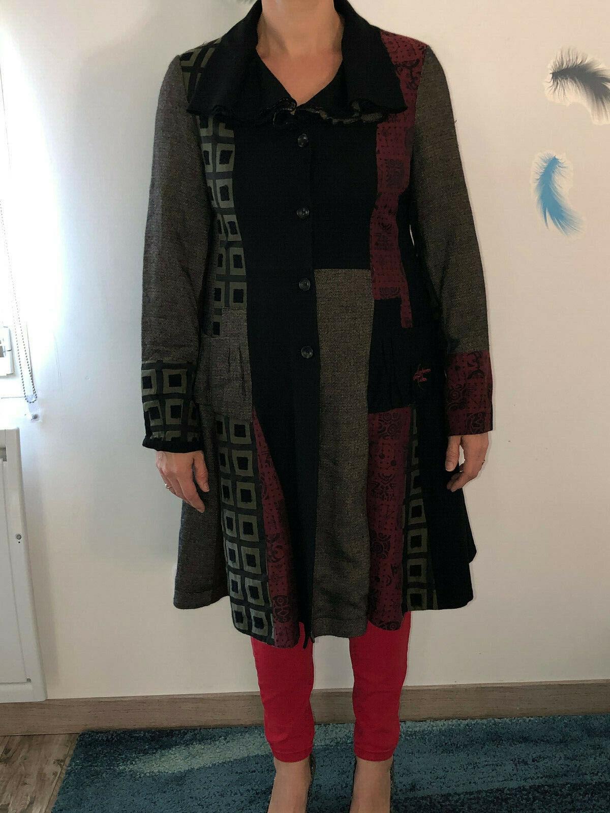 Pretty Coat Patchwork aventures des toiles Size 4… - image 1