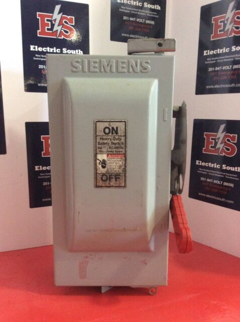 NEW SIEMENS HF361 3P 3W 600V 30 AMP FUSIBLE DISCONNECT